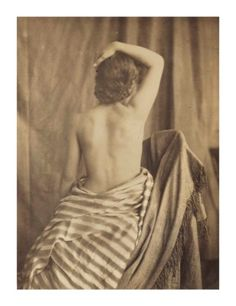 EUGÈNE DURIEU Model Posed by Delacroix, albumen print, mounted on paper image/sheet: 6 x 5 in.) mount: 13 x 10 in. x cm Estimate USD - USD Christies 10 October New York Photographs from the Emily and Jerry Spiegel Collection Image Sheet, French Photographers, Magazine Art, Image Photography, Art Market, 2 In, Female Models, Nude, Poses