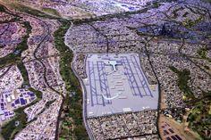 Die Stadt soll sich an die Vorgaben der Natur anpassen. Ein großer internationaler Flughafen ist auch in der Stadt geplant