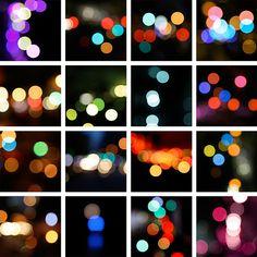 Abstract light circles