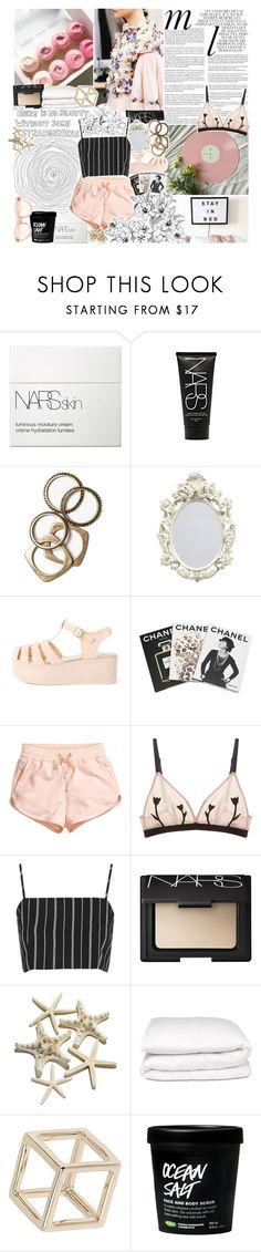 """""""running other places in my mind"""" by lucidmoon ❤ liked on Polyvore featuring Whiteley, NARS Cosmetics, Rachel Leigh, Assouline Publishing, H&M, Morgan Lane, Topshop and Selfridges"""