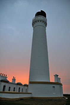 COVESEA  Skerries Lighthouse at sunset, Lossiemouth, Morayshire Scotland
