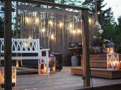 Terassiprojektia 2016 | Tohkeissaan Porch Swing, Outdoor Furniture, Outdoor Decor, Terrace, Patio, House, Cottage Ideas, Home Decor, Garten