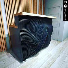 #Repost @est_maza with @repostapp.  Dj #p_metric - параметрическая  мебель из фанеры P.metric #furniture #wood #plywood #parametricde