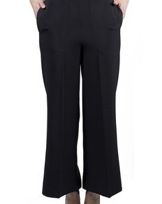 Japanese Trousers - Black $104.00  Flared trousers in a black color, ankle-length, high waist and spring in the rear.