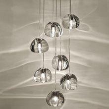 Modern claro/oro cristal esfera bola araña mizu 3 5 7 15 26 cabeza de la lámpara colgante lámpara de techo redondo de acero inoxidable base(China (Mainland))