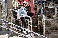 Get this look: http://lb.nu/look/8697883  More looks by Samantha Mariko: http://lb.nu/samanthamariko  Items in this look:  American Needle Cap, Forever 21 Denim Jacket, Oribagu Backpack, Zero Uv Glasses, Urban Outfitters Pants, Adidas Shoes   #casual #sporty #street #onthego #oribagu #adidas