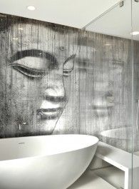 Alex Turco Bathroom Wall #LuxuryWalls #Art #BathroomDesign #InteriorDesign #Decor #UltraLuxury