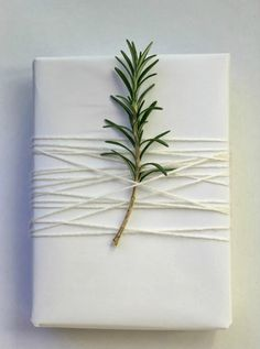 simple white DIY gift wrap