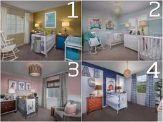 Which one of these nurseries would be the most FUN for your little ONE?!