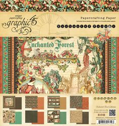 SALE Graphic 45 Enchanted Forest 12X12 Paper Pad at TheScrapCastle on Etsy