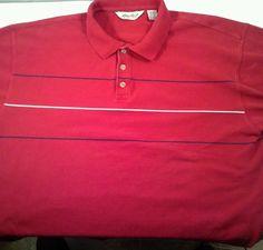 Mens stripe ss Polo Rugby shirt Eddie Bauer short sleeve red blue white xl http://hrenoten.com