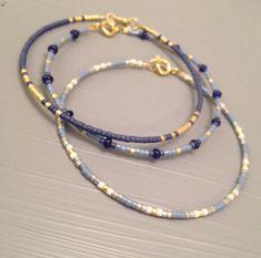 Delicate bead Bracelet Delicate Bracelet Set of two Tiny