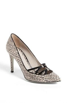 LOVE the design detail and snakeskin pattern.  Comfortable mid-height heel for all-day wear.  #ShoeLove! Jason Wu Genuine Snakeskin Pump available at #Nordstrom