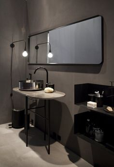 An industrial designed lamp. It's the perfect lamp for your bathroom.