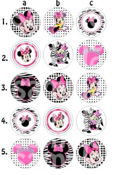 Minnie Mouse Inspired Bottle Cap Images by HelloLovelyCreations, $1.86