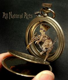 Watch Parts and Steampunk Jewelry and Sculptures by Sue Beatrice. All Natural Arts. Mode Steampunk, Steampunk House, Steampunk Fashion, Art Et Nature, Steam Punk Jewelry, Dragon Art, Miniature Dolls, Fashion Watches, Metal Art