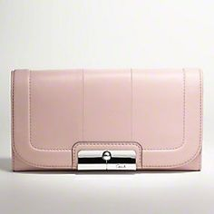 #coach #wallet #pink $238.00 would go nicely with the white coach bag :-)