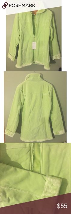 "🎉NEW🎉🌴Lime Green Faux Suede Jacket Size XL NWT 🎉NEW🎉🌴 Gorgeous Lime Green Faux Suede Jacket lined with super soft faux fur.🌴 Faux fur in lining, neck & cuffs.🌴 Size XL🌴 Measures: 21"" armpit to armpit X 21"" Length.🌴 Brand New w/Tags.🌴 Warm & cozy jacket🌴 Check measurements as its a jacket.🌴✅ Reasonable offers considered/ no low balling✅ Thx❤️ Boutique Jackets & Coats"
