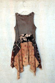 REVIVAL Boho Shirt, Shabby Chic Romantic, Hippie Bohemian Junk Gypsy Style…