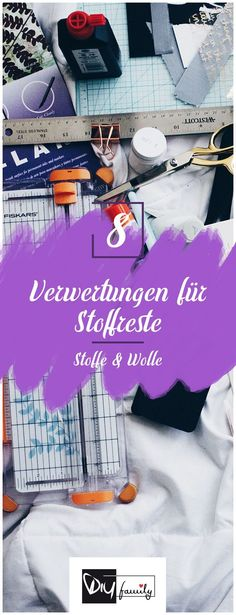 Stoffreste sinnvoll verwerten – 8 originelle Ideen Make meaningful use of scraps – 8 original ideas Diy Projects For Kids, Easy Sewing Projects, Sewing Projects For Beginners, Diy For Kids, Sewing Tutorials, Easy Crafts To Make, Diy And Crafts Sewing, Upcycled Crafts, Upcycled Clothing