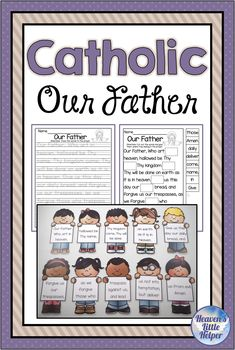 Catholic Religion Our Father, The Lord's Prayer Catholic Our Father, Our Father Prayer, Catholic Religious Education, Lord's Prayer, Catholic Religion, Catholic Kids, Catholic Prayers, Religion Activities, Help Kids
