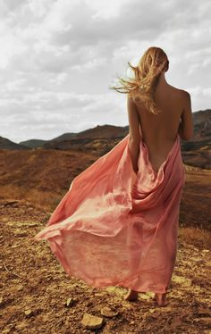 #pink #backless #dress
