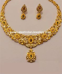 Dual Tone Gold Necklace Set