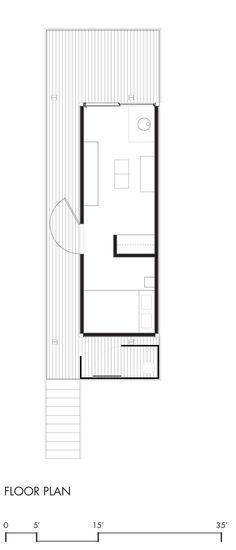 La Rolling Hut réalisée par Olson Kundig Architects est une cabane simple. Elle se compose d'une boîte en acier recouverte d'un toit plat en acier. La vie se