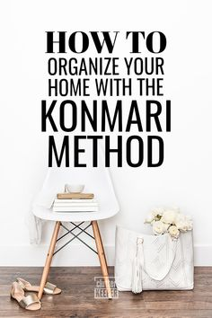 What is the KonMari Method for Home Organization? Learn all about the KonMari method - what it is, how to do it successfully, and how to declutter and keep your home organized for good. Home Organization Hacks, Closet Organization, Kitchen Organization, Organising Ideas, Household Organization, Declutter Your Home, Organizing Your Home, Organizing Tips, Konmari Methode