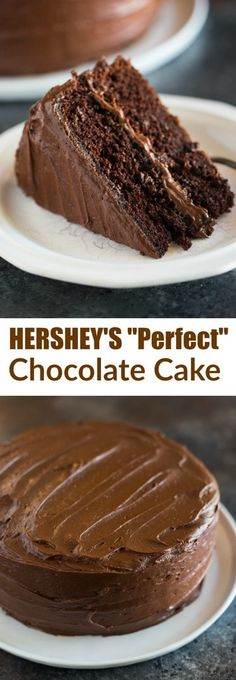 "Hershey's ""perfectly chocolate"" chocolate cake 