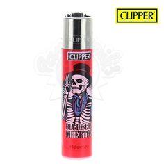 Briquet Clipper © Santa Muerte (Rouge)