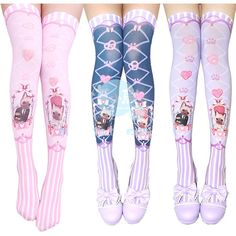 ♥ little bird ♥, thedollalice: Lovely kitty socks from Harajuku... ❤ liked on Polyvore featuring lolita, socks, tights, accessories and cute