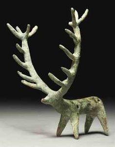 Amlash Bronse Stag, 1000 BC. Modern-day Iran