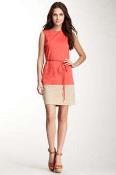 Colorblock Tie Sheath Dress on HauteLook