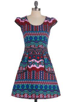Westward Journey Dress in Kaleidoscope, #ModCloth