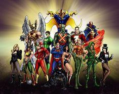 Legion Of Superheroes, Dc Comics Heroes, Dc Comics Characters, Dc Comics Art, Fun Comics, Original Justice League, Marvel E Dc, Marvel Avengers, Justice League Unlimited