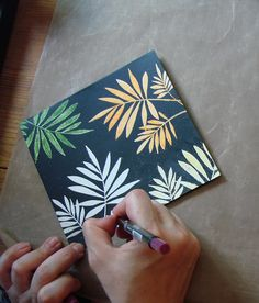 Coloring white embossed on black cardstock images photo tutorial.