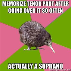 choir kiwi | Tumblr....and then you try to sing it lol most of these are so true it's scary