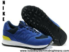 1164d37d6ab1 Best Gift New Balance NB MS574 Sonic BK series navy Blue Yellow White For  Men shoes