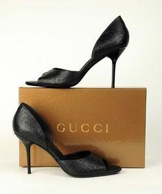 Gucci Horsebit Logo Black Pumps