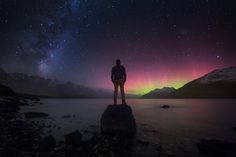 The Universe and Me by Jesse Summers on 500px... #aurora #milky way #new zealand…
