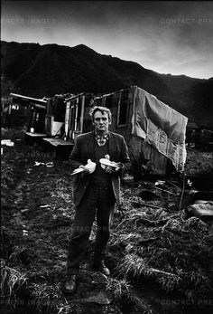 Steelworker with his racing pigeons, Consett, County Durham, UK, 1974 Don McCullin