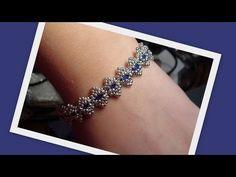 Bollywood Bracelet with Tila beads Beading Tutorial by HoneyBeads (Photo...