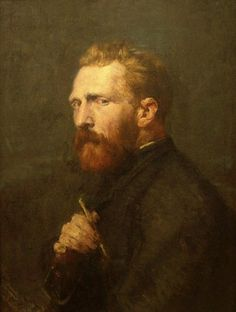 1886 John Peter Russell: Retrato de Vincent Van Gogh, pintor/Portrait of Vincent Van Gogh, painter.