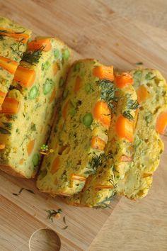 Cake printanier aux légumes