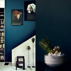 Eclectic Trends Color Trend Moody Blue Walls new bedroom design. small bedroom designs for couples. Asian Paints Colour Shades, Asian Paints Colours, Blue Paint Colors, Blue Colour Palette, Colour Schemes, Room Colors, Color Trends, House Colors, Color Palettes