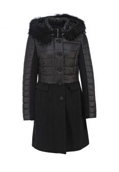 Куртка утепленная Gerry Weber, цвет: черный. Артикул: GE002EWFQY78. Женская одежда / Верхняя одежда