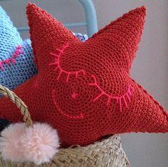 *dreamer pillow* coussin étoile au crochet