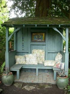 Awesome Wooden Gazebo Ideas for Shelter and Rest Comfortable Moment With Family gazebos Small Backyard Design, Small Backyard Landscaping, Garden Design, Backyard Ideas, Gazebo Ideas, Garden Ideas, Landscaping Ideas, Firepit Ideas, Pergola Kits