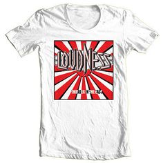 Loudness T-shirt heavy metal rock concert retro tee Def Leppard Kiss Ratt 80s Heavy Metal, Heavy Metal Bands, Metal Shirts, Rock Shirts, Loudness, Rock Concert, T Shirts With Sayings, Printed Tees, The Ordinary